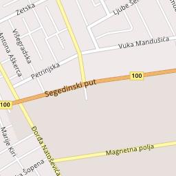 Magnetna polja Subotica, ulica i objekti na mapi | PlanPlus rs